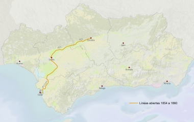 SIG Patrimonio Ferroviario Andalucía 1854 a 1860_Patricia Ferreira Lopes