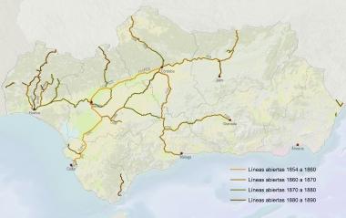 SIG Patrimonio Ferroviario Andalucía 1854 a 1890_Patricia Ferreira Lopes
