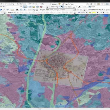 Mosaico proceso digitalizacion arcgis proyecto SIG Patrimonio Ferroviario Andalucía _Patricia Ferreira Lopes