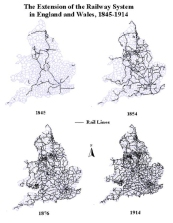 railway system in England 1845-1914