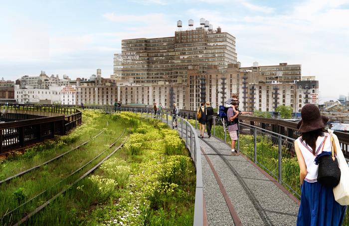 12_Interim Walkway at the Western Rail Yards - View 3