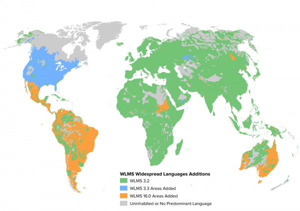 world languages map