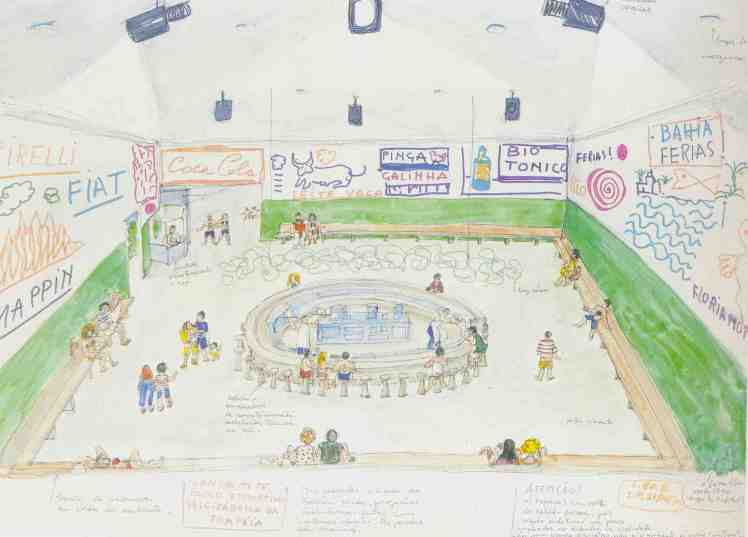 SESC Pompeia sketch lanchonete bloco esportivo