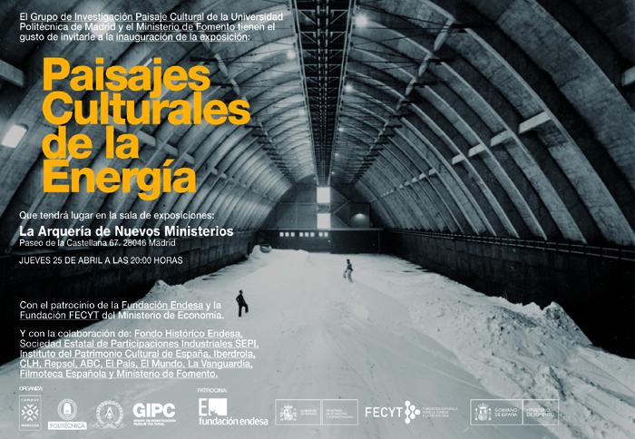Invitación exposición Paisajes Culturales de la Energía
