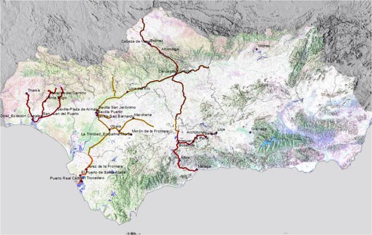 La visión del patrimonio ferroviario de Andalucía tiempo y espacio 1854 a 1875 occidente