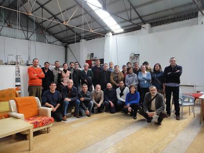 """Componentes de la Coordinadora Andaluza de Patrimonio Industrial """"Fabricando el Sur"""". Fuente: La Maquinilla"""