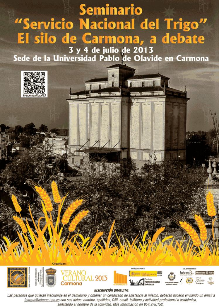Seminario sillos y graneros 3 y 4 de julio Carmona