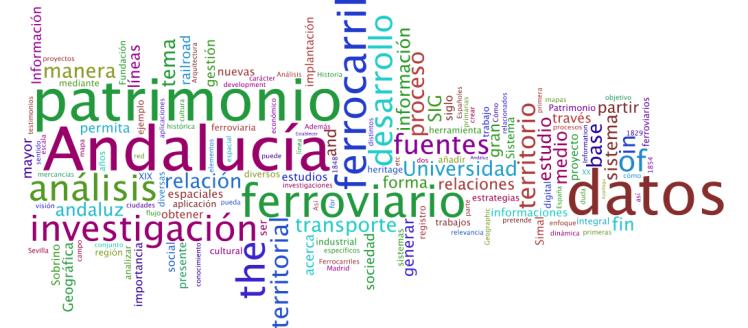 Word Cloud Generator Análisis del Patrimonio Ferroviario en Andalucía mediante el SIG: estratégias para su gestión.