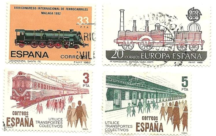 Sellos ferrocarril España_ Correos