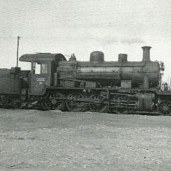Esta locomotora es una de las Consolidación fabricadas por Baldwin para Andaluces en 1921. Obtenida el 24 de enero de 1965. Autor: Jeremy Wiseman