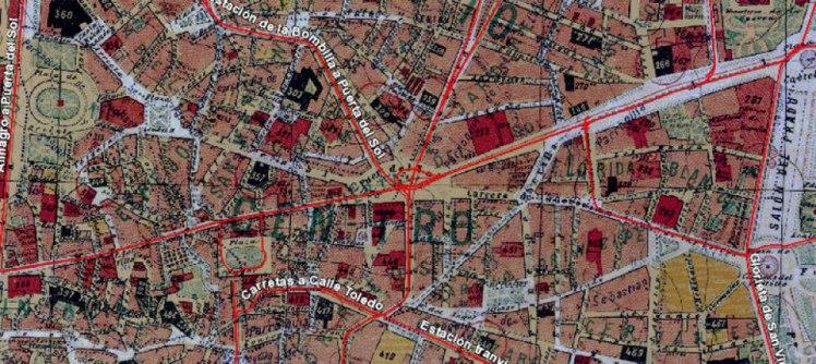 plano tranvía Imágenes IDE Madrid CSIC