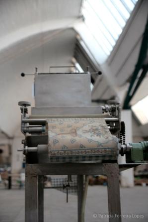Exposición máquinas antiguas de la fábrica Hytasa. Fuente: Patricia Ferreira Lopes