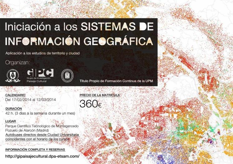 CARTEL curso SIG UPM_ Sistema de Información Geográfica