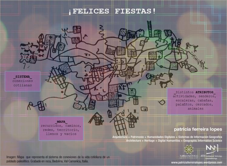 Felices Fiestas 2014. Patricia Ferreira Lopes. Tardogótico. SIG.GIS. Digital Humanities.Mapa.