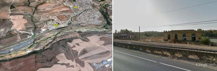 Tecnologías como Google earth y Street View permiten acceder, visualizar y experimentar diversos lugares de manera muy rápida y interactiva. En estas imágenes verse el poblado de Niebla y su antigua estación ferroviaria. Fuente: Google earth. Octubre 2013.